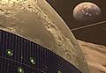 lune panneaux solaire