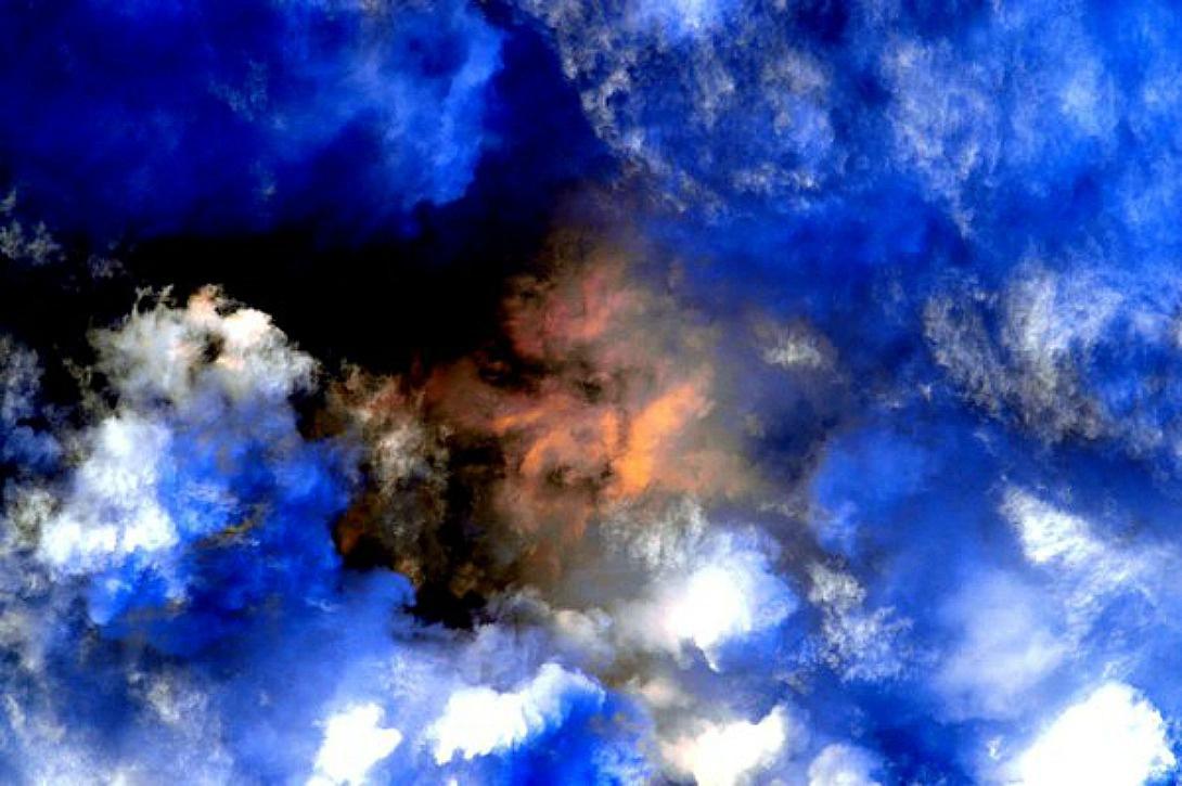Des nuages flottent au-dessus du golfe du Mexique, le 30 décembre 2015