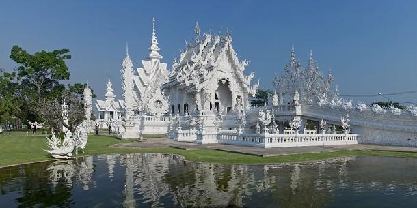 monument-Wat Rong Khun, Thaïlande