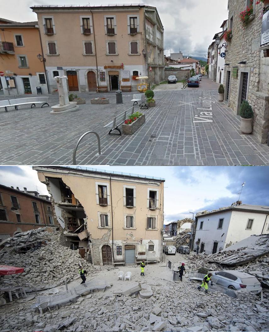Place Dans Le Centre De Amatrice dans la province de Lazio