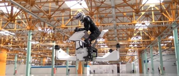 voici l hoverbike ou la moto qui vole la terre du futur. Black Bedroom Furniture Sets. Home Design Ideas