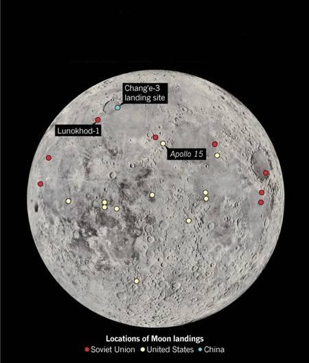 chine sur la lune