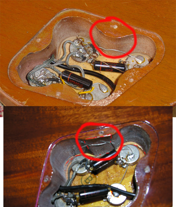 gibson les paul wiring diagram motion sensor schematic 1968 and 1969 serial number information cavity routing