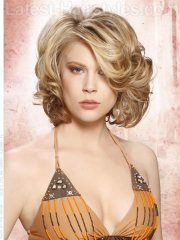 short curly hairstyles - glamorous