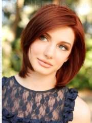 medium hairstyles red hair