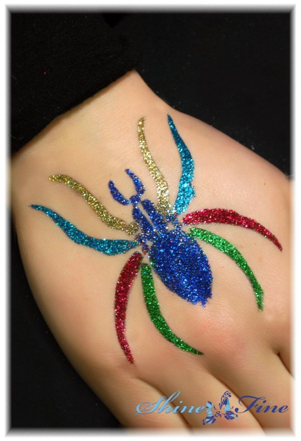 latest glitter tattoo design