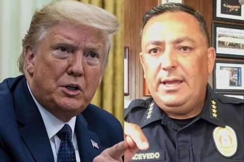 Donald Trump and Chief of Police