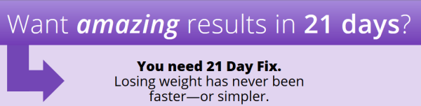 21 day fix workout schedule