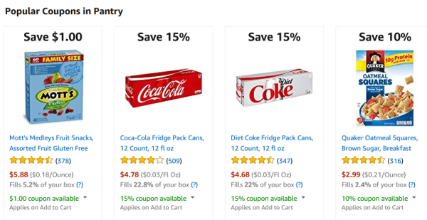 Amazon Pantry Deals & Coupons