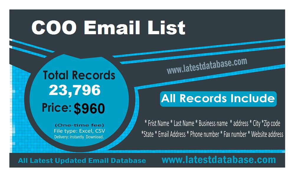 COO ईमेल सूची