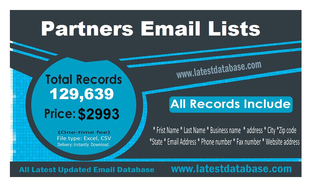 Listas de e-mail de parceiros
