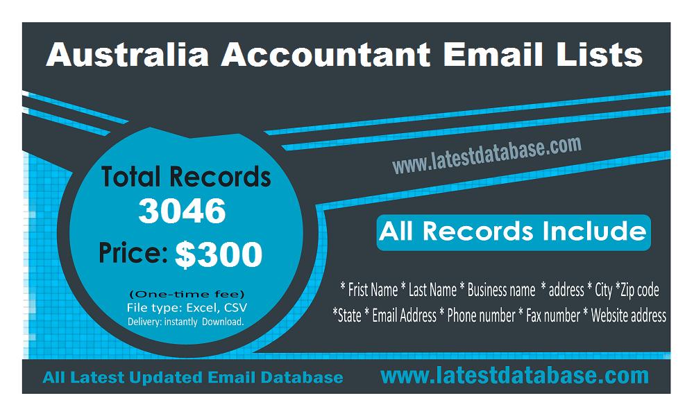 Listele de e-mailuri contabile din Australia