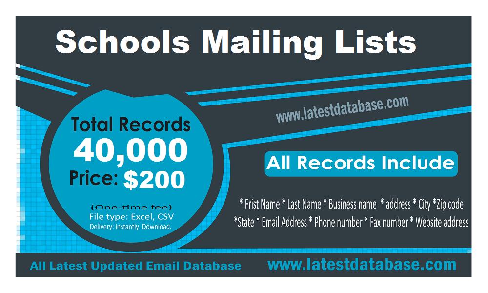 รายชื่อผู้รับจดหมายของโรงเรียนในสหรัฐอเมริกา