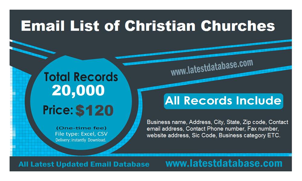 Danh sách email của các nhà thờ Thiên chúa giáo