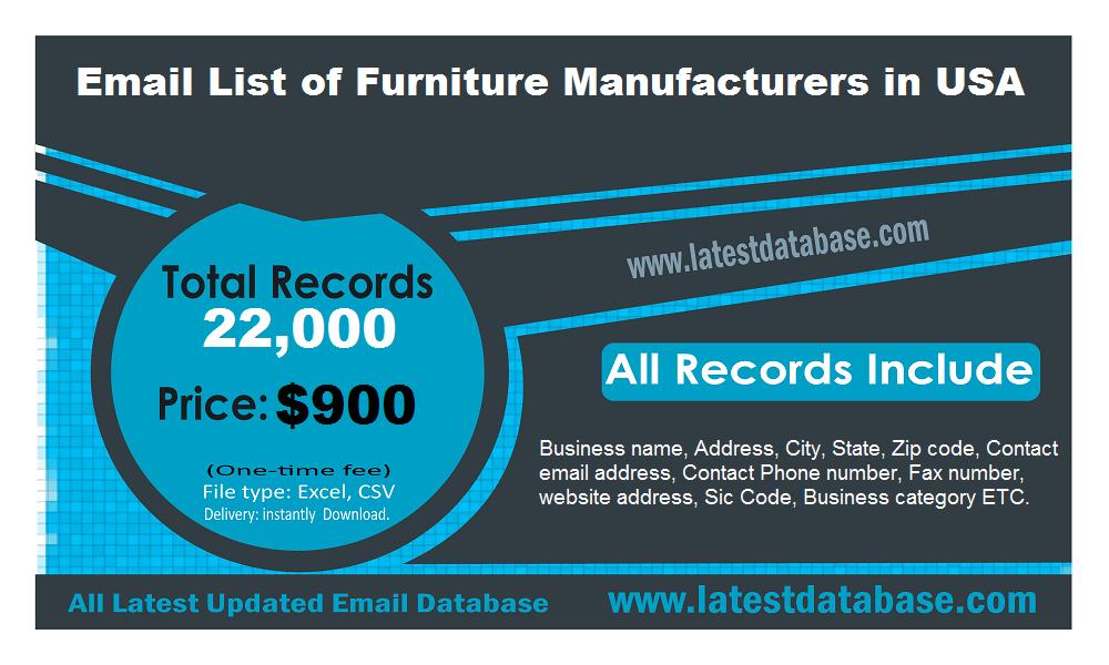 संयुक्त राज्य अमेरिका मा फर्नीचर निर्माताहरु को ईमेल सूची