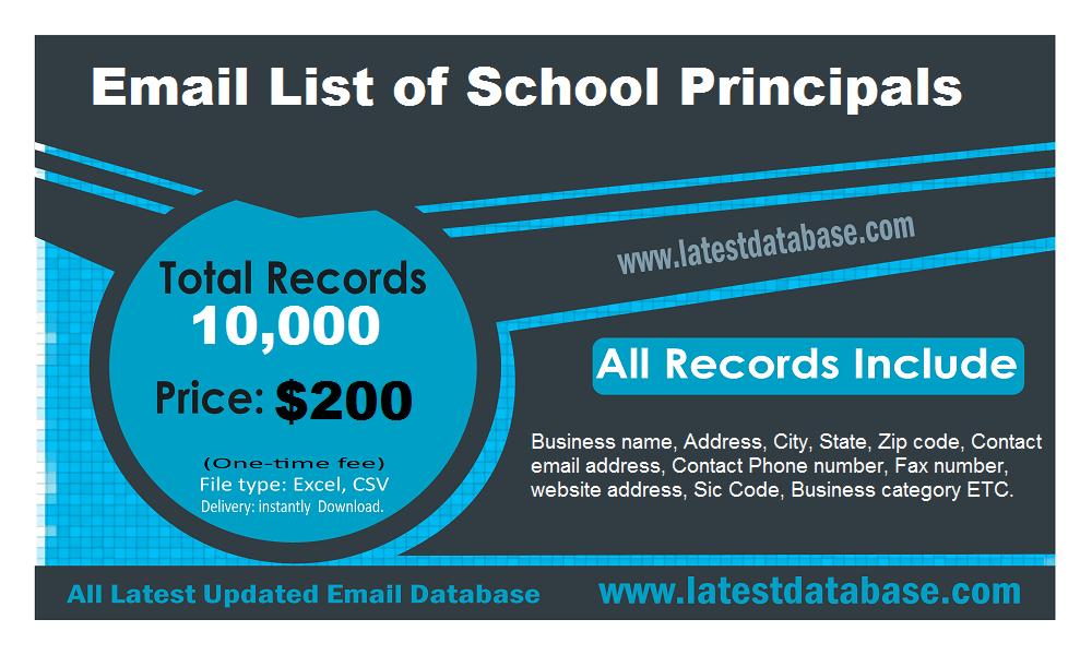 Daptar Email tina Kepala Sekolah