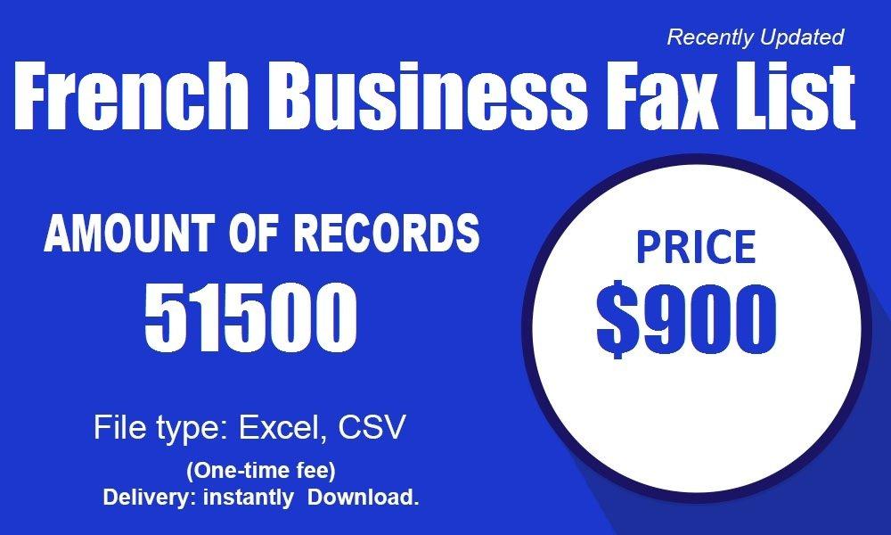 Lista de fax de negocios franceses