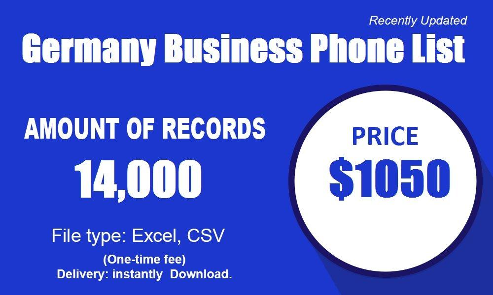 ドイツのビジネス電話リスト