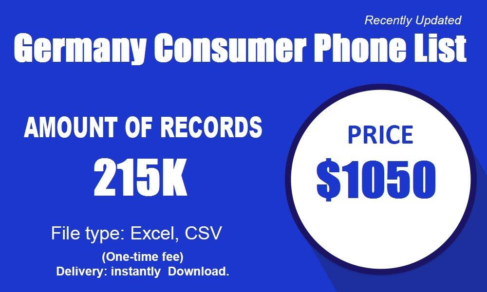 Tyskland Consumer Phone List