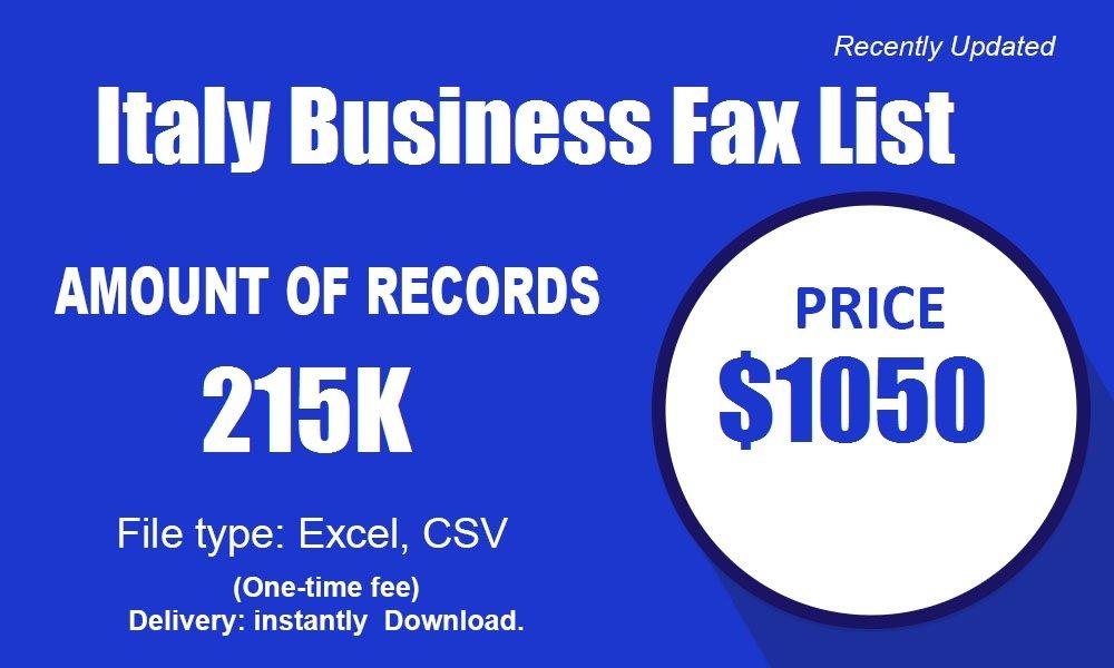 Itālijas biznesa faksu saraksts