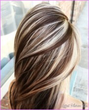 chocolate brown hair with blonde