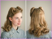 vintage rolled hair tutorial