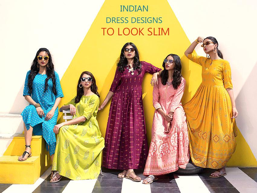 Indian Dress Design For Fat Ladies Look Slim Definately