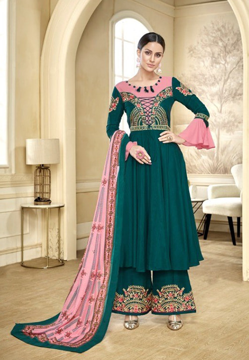 Embroidered Palazzo Suits