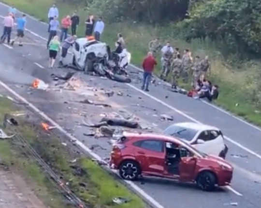 A1 Multiple car accident