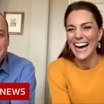 Coronavirus: William and Kate video call key workers' children – BBC News