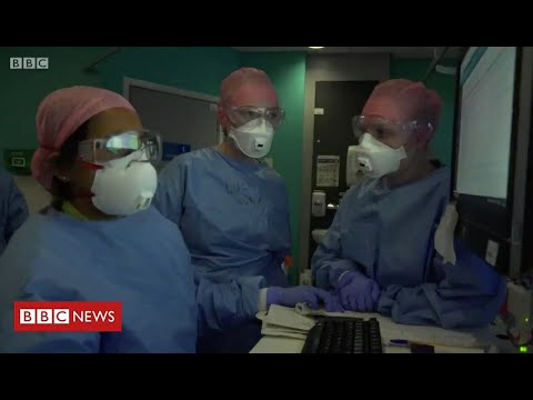 The Coronavirus Frontline: fighting to save lives at a London hospital  – BBC News