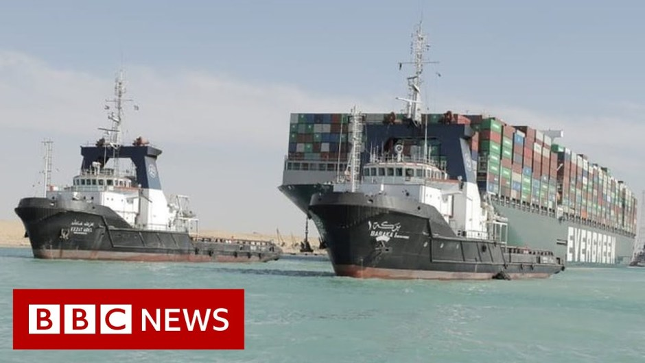 Suez Canal reopens after large stranded ship is freed – BBC Information