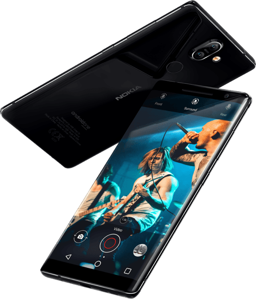 Nokia 8 Sirocco with wireless charging technology