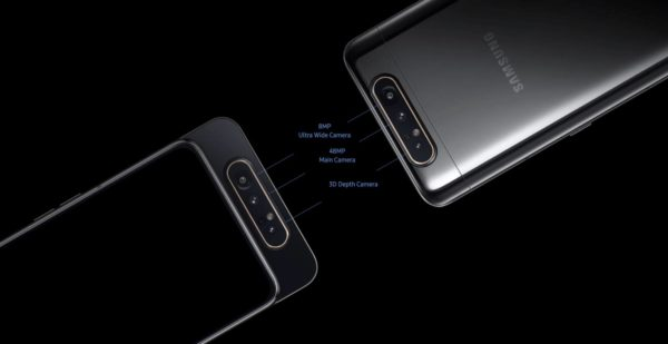 Samsung Galaxy A80, 48MP rotating camera, 8GB RAM, 3700MAh.