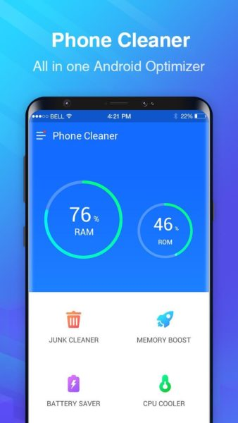 Phone cleaner for Android smartphones
