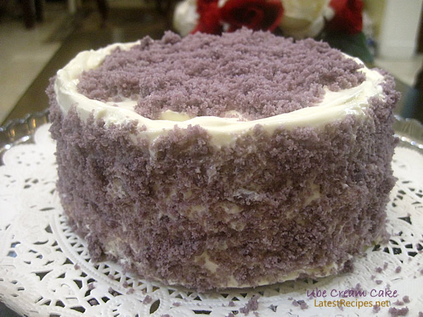 Ube Layer Cake (Purple Yam Cake)