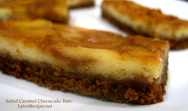 Salted Caramel Cheesecake Bars