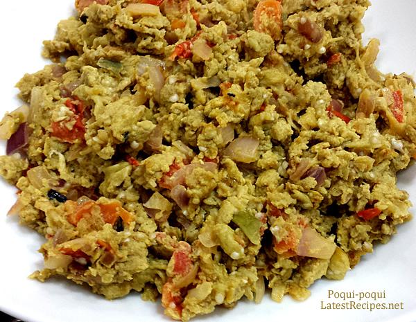 Poqui-Poqui (Sauteed grilled eggplant with eggs)