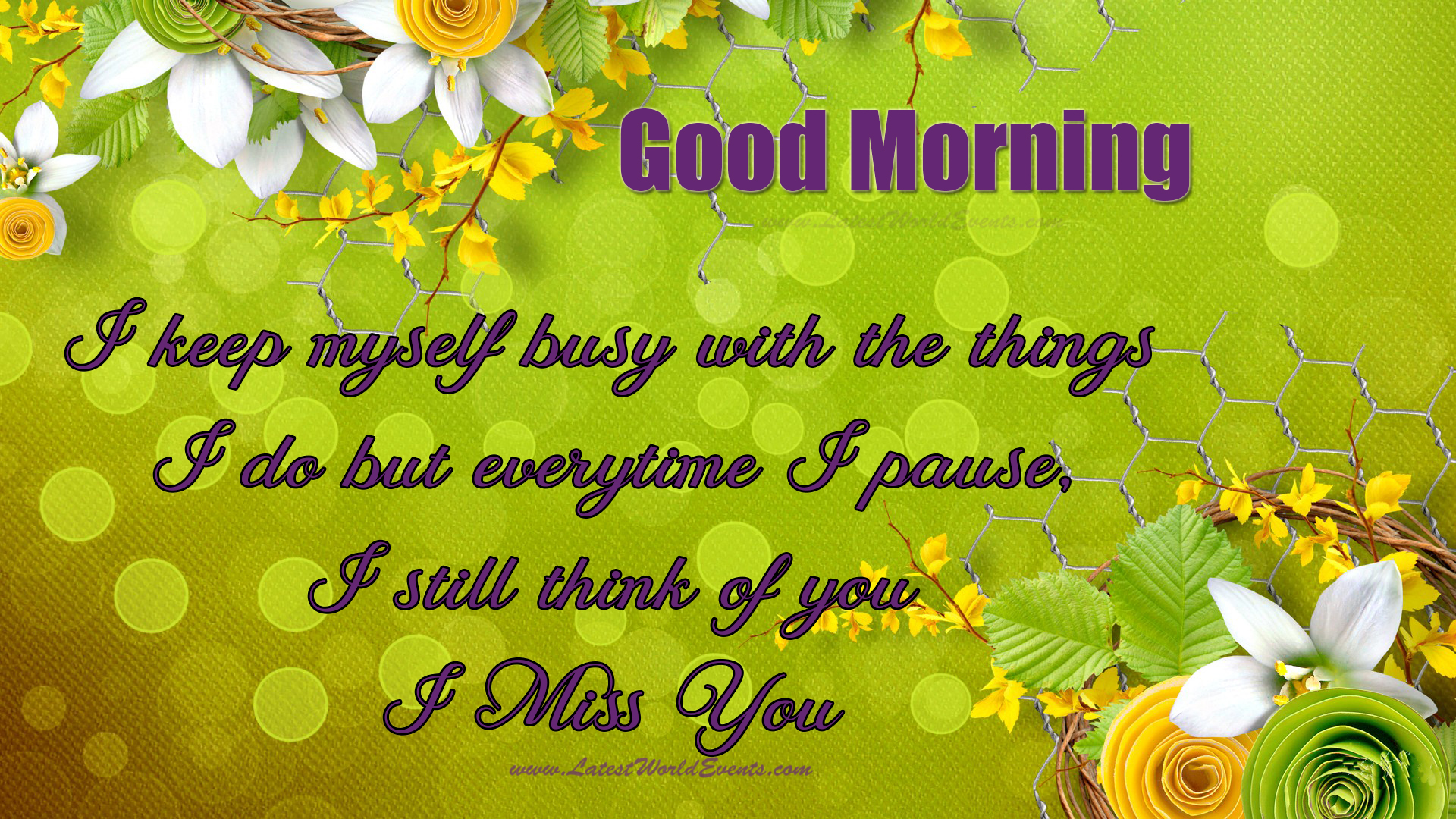 Good morning have a nice day messages latest world events