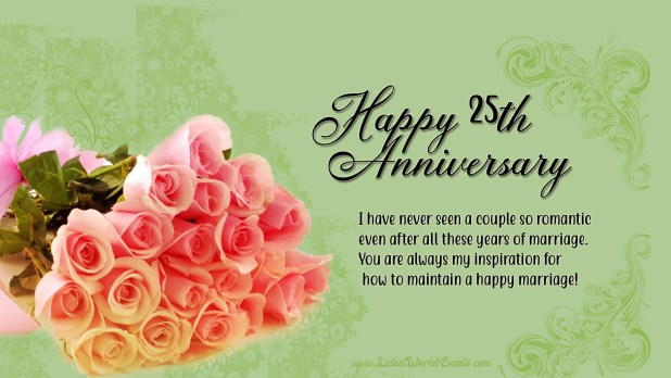 Happy Silver Jubilee Anniversary Happy 25th Anniversary Images