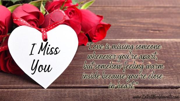Love miss u with 100 romantic