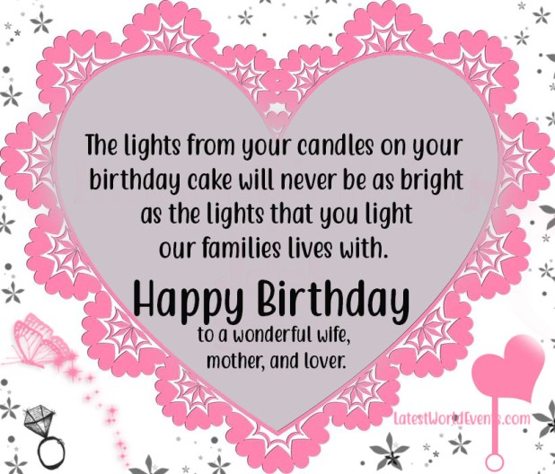 Brilliant Happy Birthday Wishes For Wife Birthday Quotes For Wife Personalised Birthday Cards Paralily Jamesorg