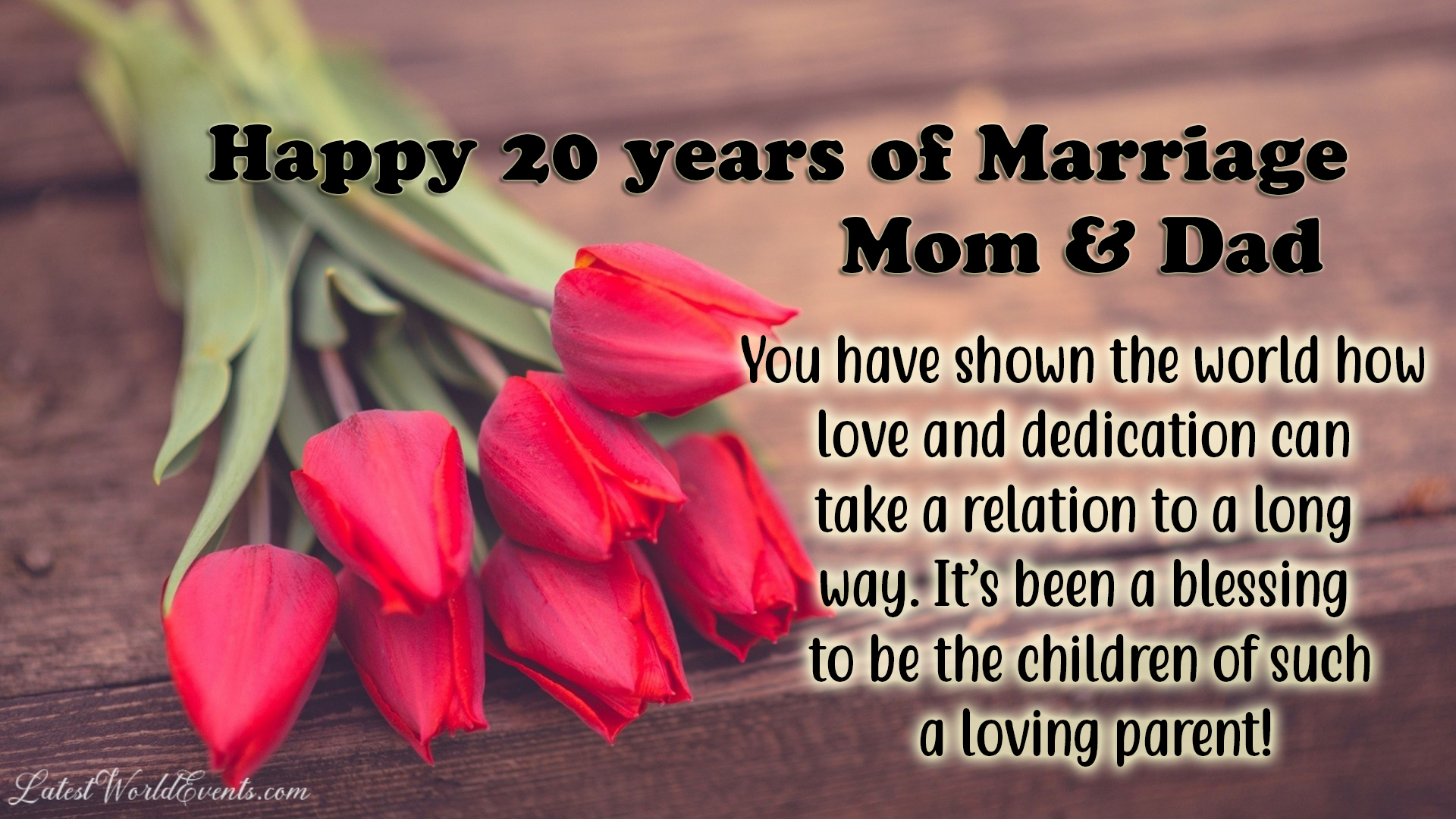 20th anniversary wishes for parents & 20th wedding anniversary wishes