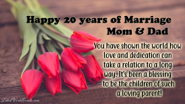 20th anniversary wishes for parents & 20th wedding ...