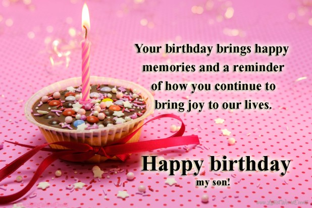 Birthday Wishes Quotes Happy Birthday Wishes For Son From Mother