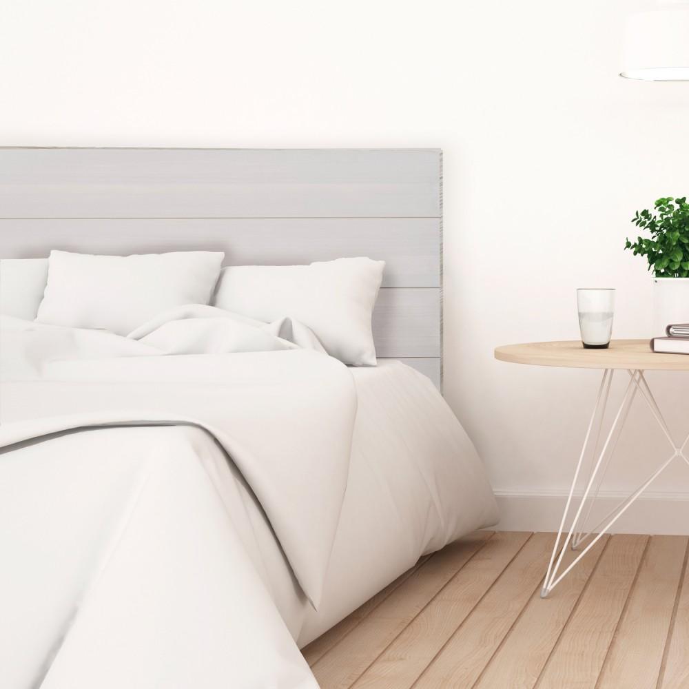 tete de lit en bois decape gris vente