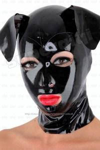 Latex/rubber/0.45mm mask/hood/costume/catsuit/suit/black ...