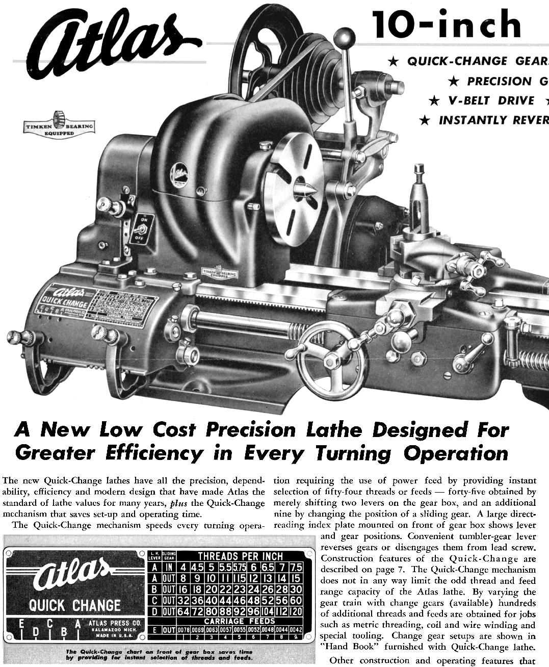 Atlas Lathe Manual