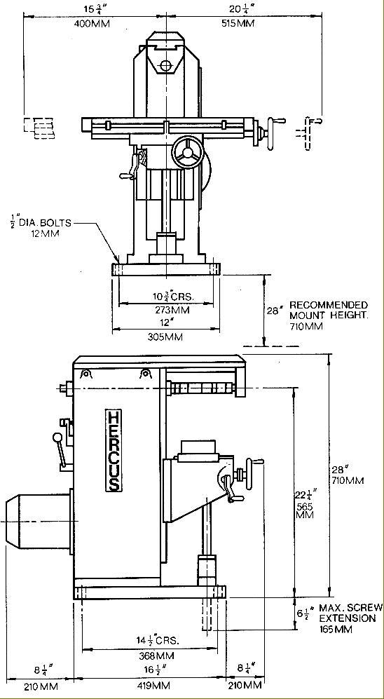 Hercus Milling Machine