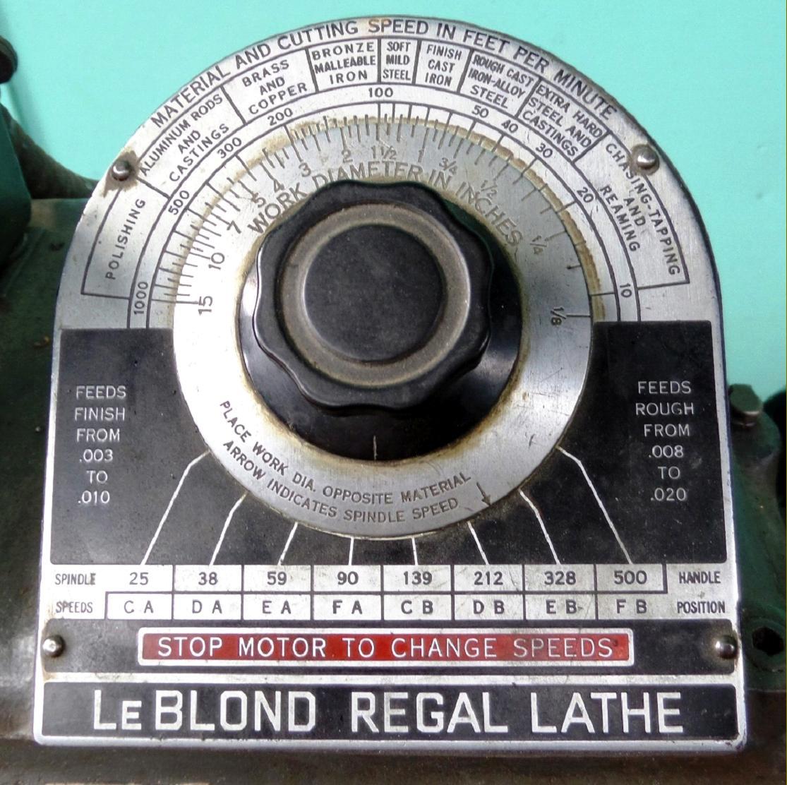 Leblond Regal Lathe 13 Weight